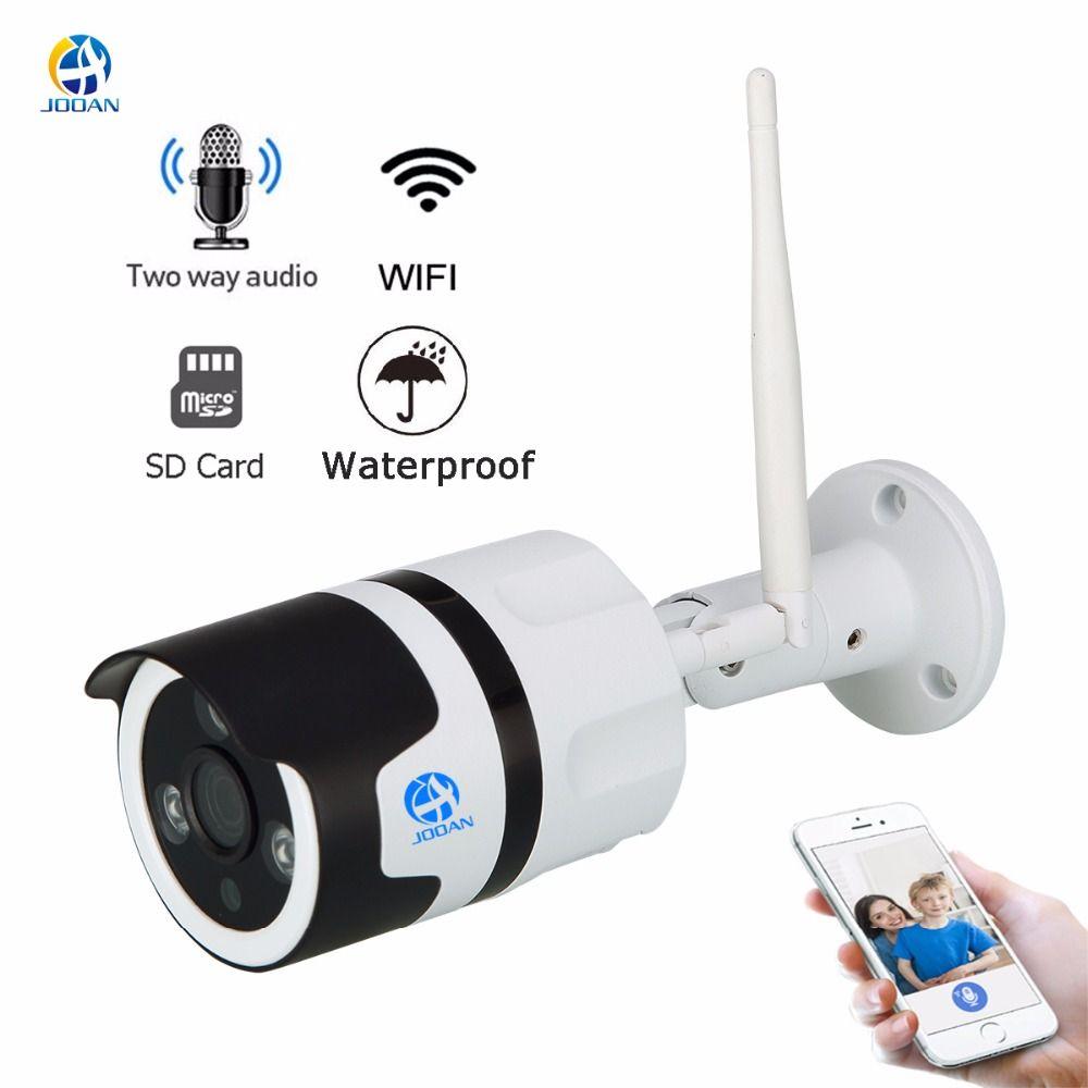 JOOAN wireless IP Camera Wifi 2.0MP outdoor surveillance camera 1080p Onvif bullet IP security camera TF card record IP66