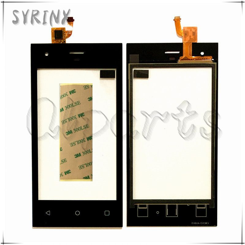 Syrinx With 3M Tape Touchscreen For Highscreen Pure F Touch Screen Digitizer Touch Screen Panel Sensor Front Glass Replacement