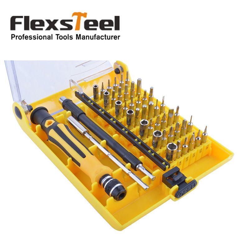 Ensemble de tournevis Flexsteel Precision 45 en 1 embout Torx électronique Mini Kit de tournevis magnétique outils à main de réparation pour téléphone, montre