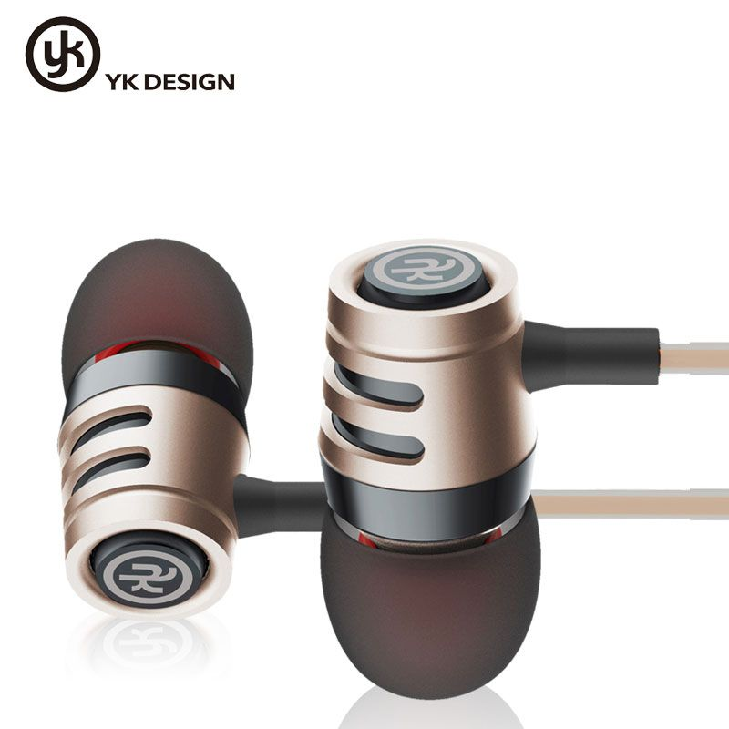 YK Design YK-R4 In Ear Earphone Stereo Headset with Microphone For iPhone,For xiaomi and other smart phones With Retail Package