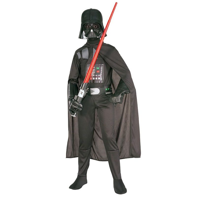 Hot Sale Deluxe Child Movie Star Wars The Force Awakens Villain Character Darth Vader Halloween Cosplay Costumes