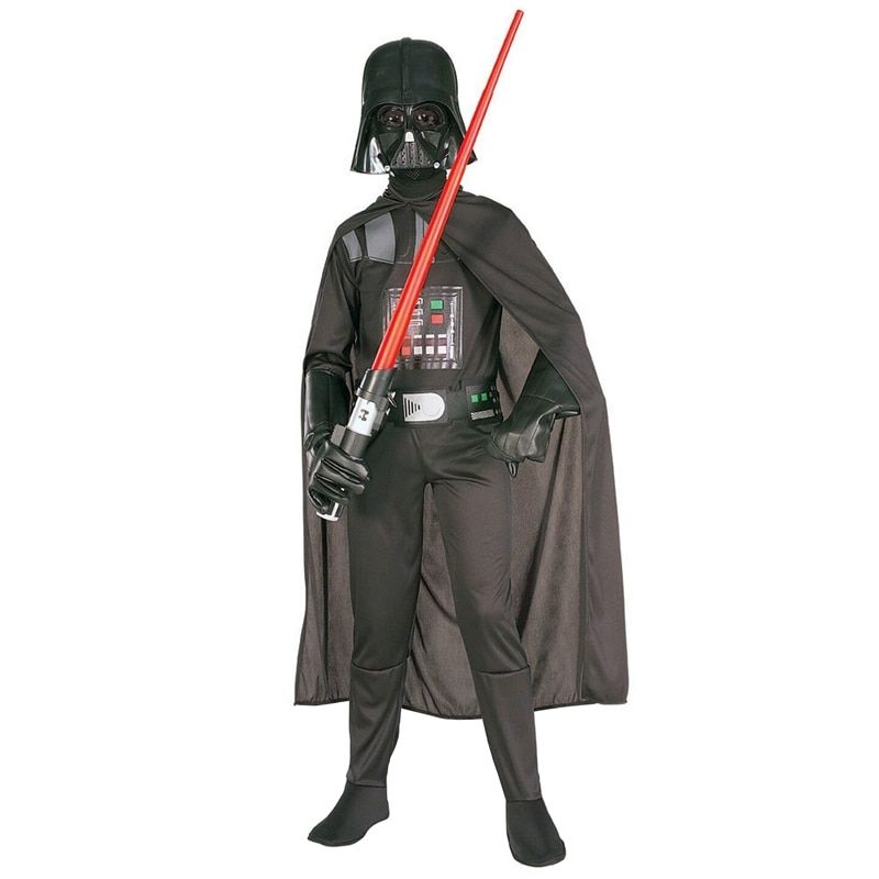 Hot Sale Deluxe Child Movie <font><b>Star</b></font> Wars The Force Awakens Villain Character Darth Vader Halloween Cosplay Costumes