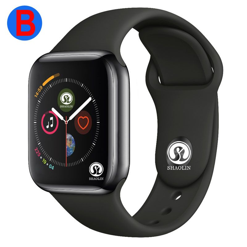 B Männer Frauen Bluetooth Smart Uhr Serie 4 SmartWatch für Apple iOS iPhone Xiaomi Android Smart Telefon (Rot Taste)