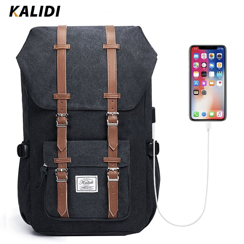 KALIDI Laptop Bag Backpack 15.6 - 17.3 Inch For Men Women <font><b>Travel</b></font> School Bag For Macbook Air Pro 15 17 Fashion Notebook Bag USB