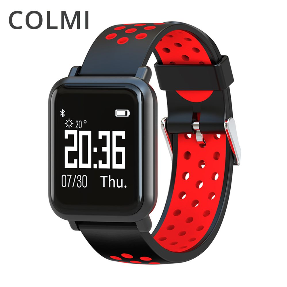 COLMI Smart Watch OLED Screen Heart Rate <font><b>Blood</b></font> Oxygen Pressure BRIM IP68 Waterproof Activity Tracker For Android and IOS Phone