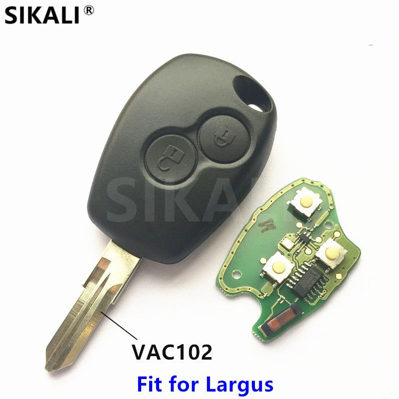 2 buttons Car Remote Key <font><b>433MHz</b></font> for Lada Largus PCF7946 Chip