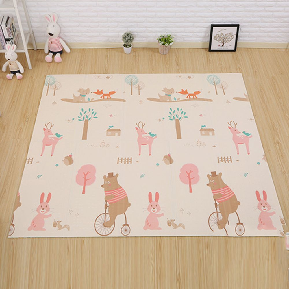180cm*200cm Infant Baby Foldable Play Double-sided Mat Thickened Home Baby Room Splicing Child Climbing Mat