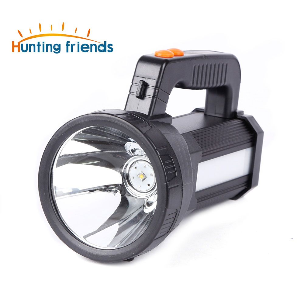 Super Bright Portable Light USB External Interface Flashlight 3 Swith Modes Searchlight Built in 6x18650 Rechargeable Batteies