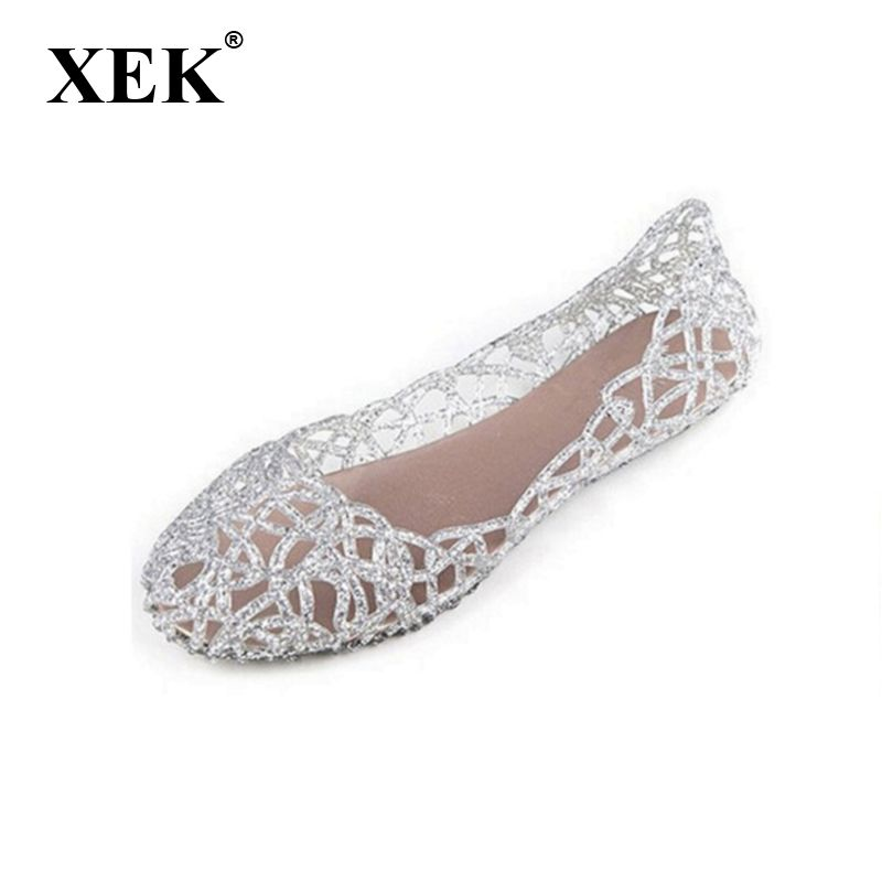 New 2017 summer women sandals breathable shoes crystal jelly nest crystal sandals female flat sandal shoes woman