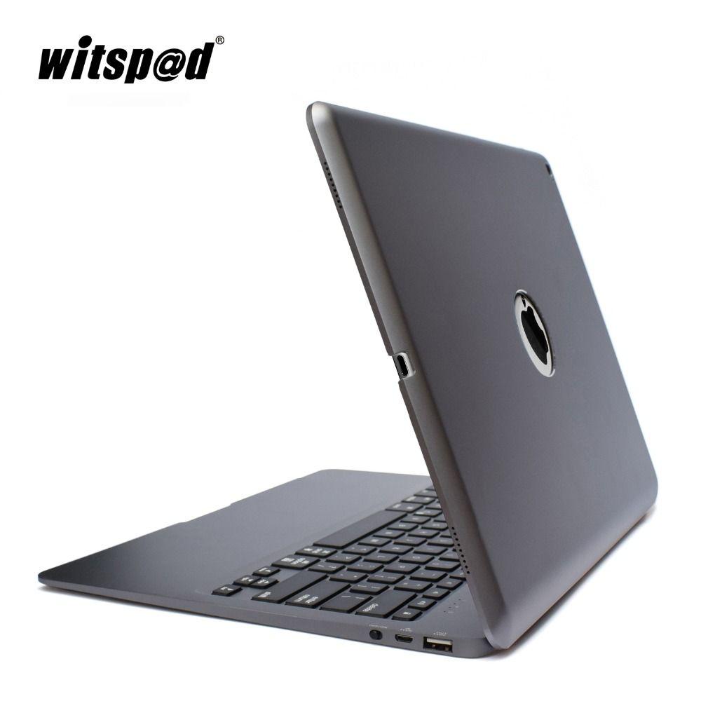 Witsp @ d Pour APPLE IPAD PRO 12.9 clavier cas, rétro-éclairé En Aluminium Mince Bluetooth Sans Fil Clavier Couverture avec Powerbank 5200 mah