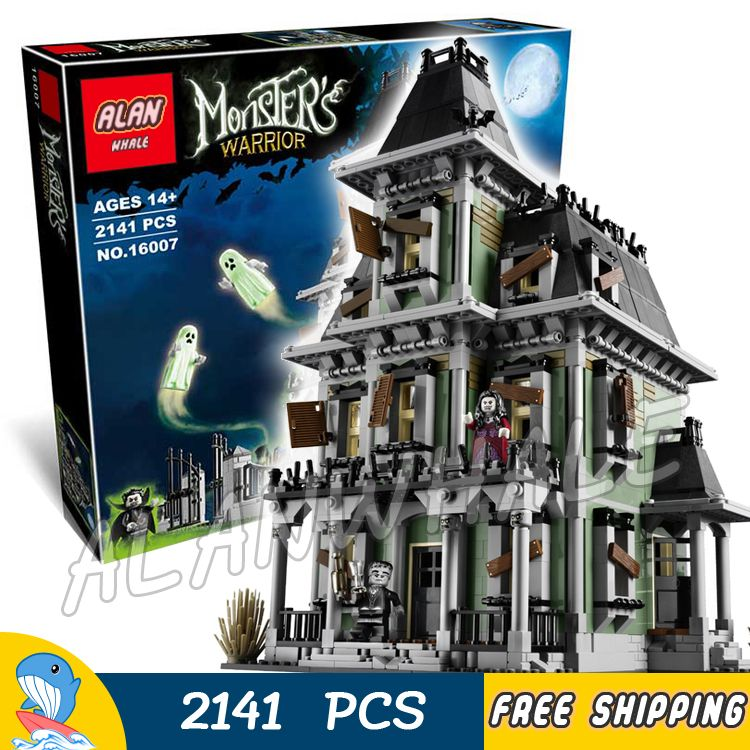 2141pcs Monster Fighters Haunted House Vampyre Castle 16007 Model Building Blocks Children Toy Bricks Movie Compatible with Lego