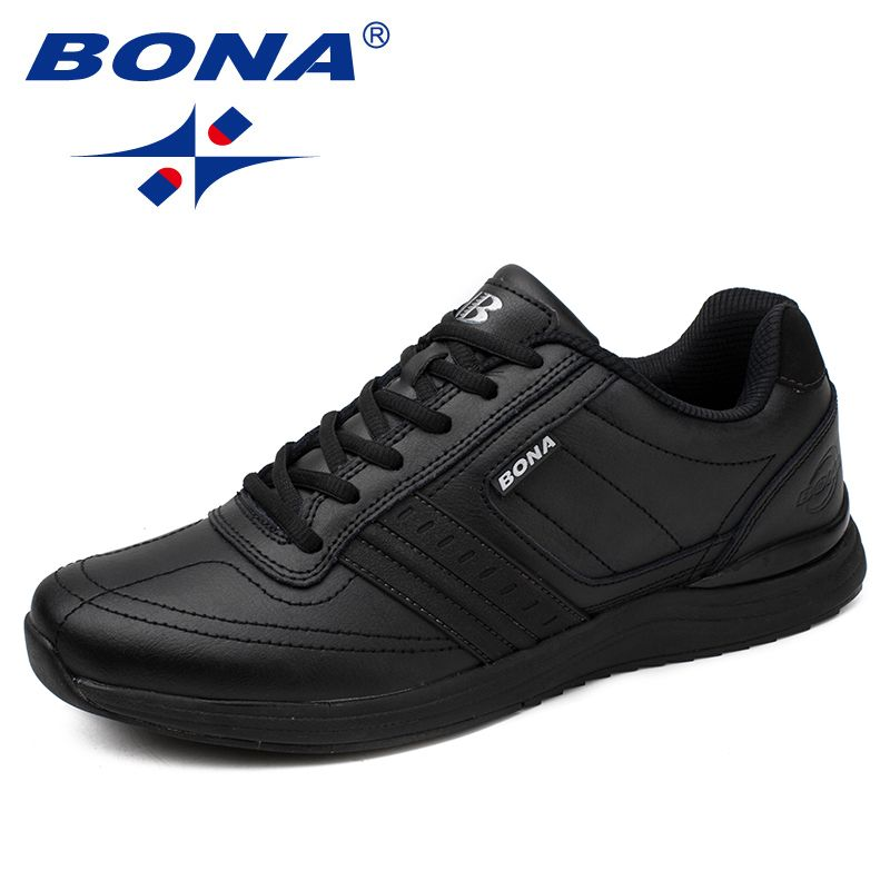 BONA New Popular Style Men Casual Shoes Lace Up Comfortable Shoes Men Soft Lightweight Outsole Hombre Free Shipping