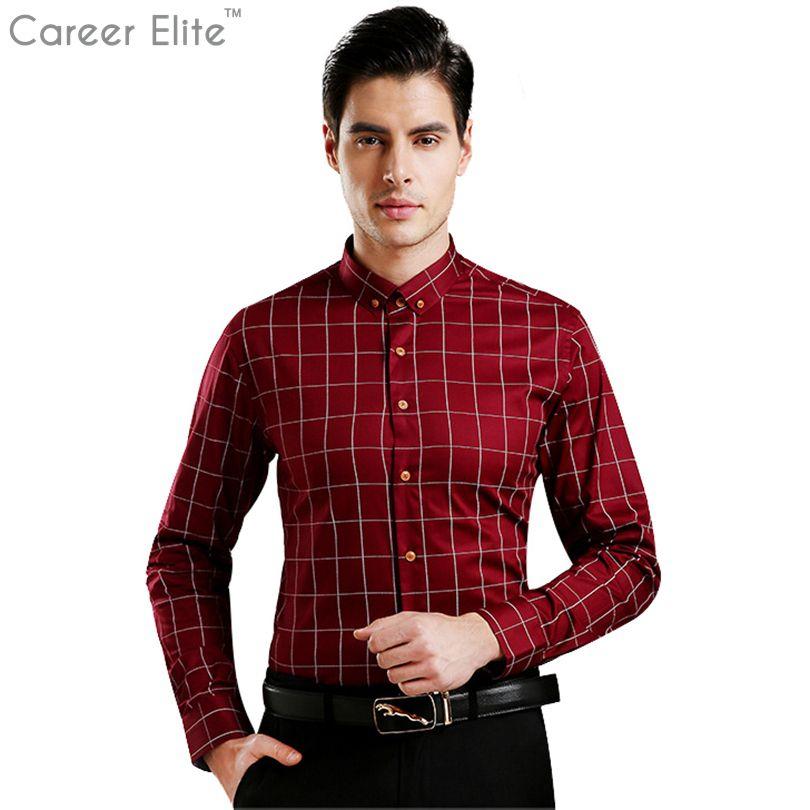 2018 Повседневное 5xl плюс Размеры Сорочки выходные для мужчин Для мужчин рубашка хлопковая клетчатая блузка с длинным рукавом модная брендов...
