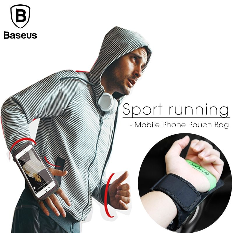 Baseus Universal Waterproof Armband Case For iPhone Samsung Xiaomi Sports Running  5-5.8 inch Mobile Phone Wristband Hand Case