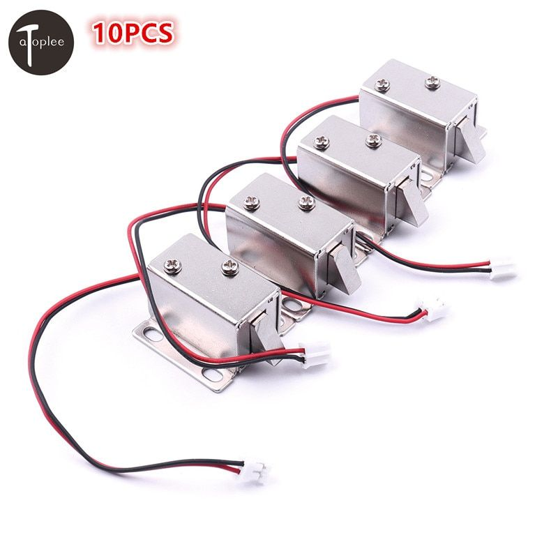 High Quality 10PCS DC12V/350MA Ultra-Compact Locks Free Shipping Cabinet Door Electric Lock Assembly Solenoid