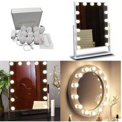 Makeup Mirror light,Vanity mirror Light Bulbs Kit for Dressing Table with Dimmer and Power Supply Plug in, Mirror Not Included
