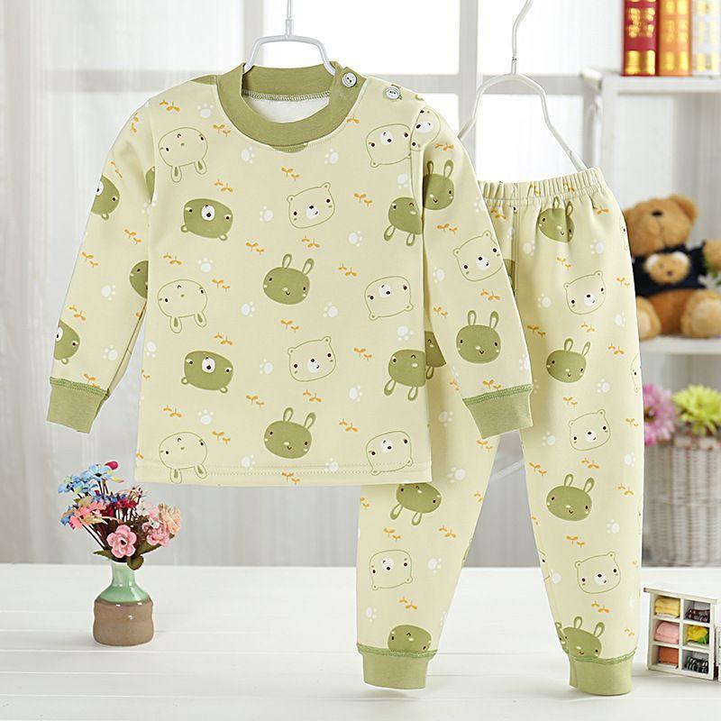 Высокое качество пуловер мультфильм Одежда для маленьких мальчиков и девочек Теплые хлопковые Наборы для младенцев m1801-m1812
