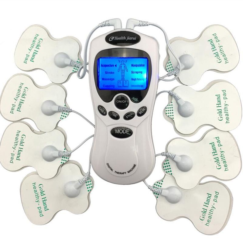 TENS Body Healthy care Digital meridian therapy massager machine Slim Slimming Muscle Relax Fat Burner pain new 2*4 pads massage