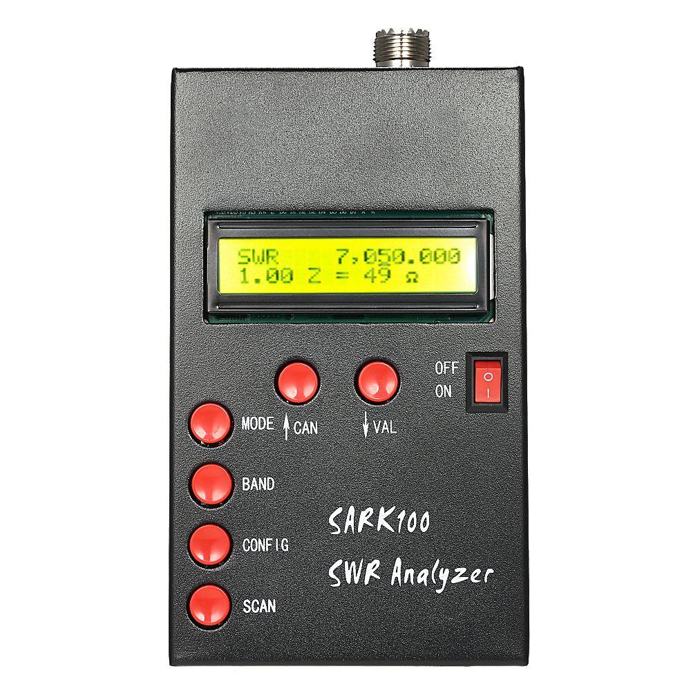 SARK100 1-60MHz HF ANT SWR Antenna Analyzer Meter Standing Wave Tester for Ham Radio Hobbyists Impedance Capacitance Measurement