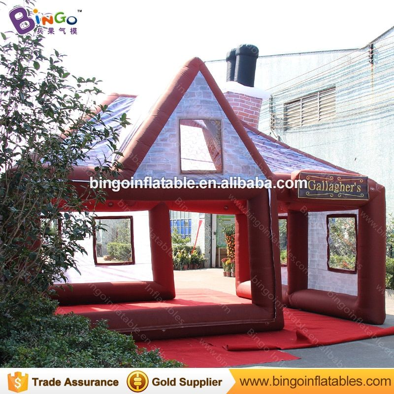 19.7ft X 16.4ft X 16.4ft inflatable pub / inflatable irish pub / inflatable bar with blower toy tent
