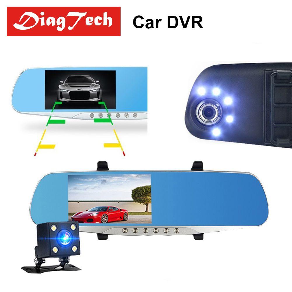 Gryan Car Rearview Mirror Car Mirror Video With Dual Cameras Car DVR 4.3'' Full HD 1080P Dual Lens Rear View Camera Dashcam