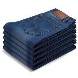 Grande Taille Plus 38 2018 Nian JEEP marque Hommes Jeans Classique hommes de Vêtements Casual Denim pantalon Hommes Régulière Bleu jean pantalon Mâle