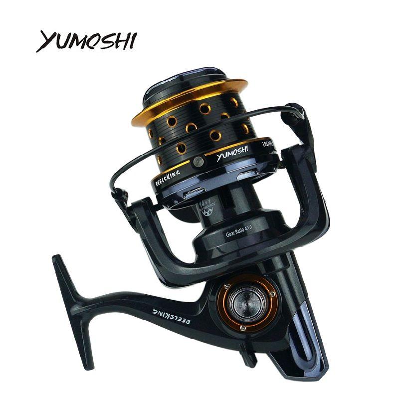 YUMOSHI 10000 size metal spool Jigging trolling long shot casting for carp and salt water surf spinning big sea fishing reel