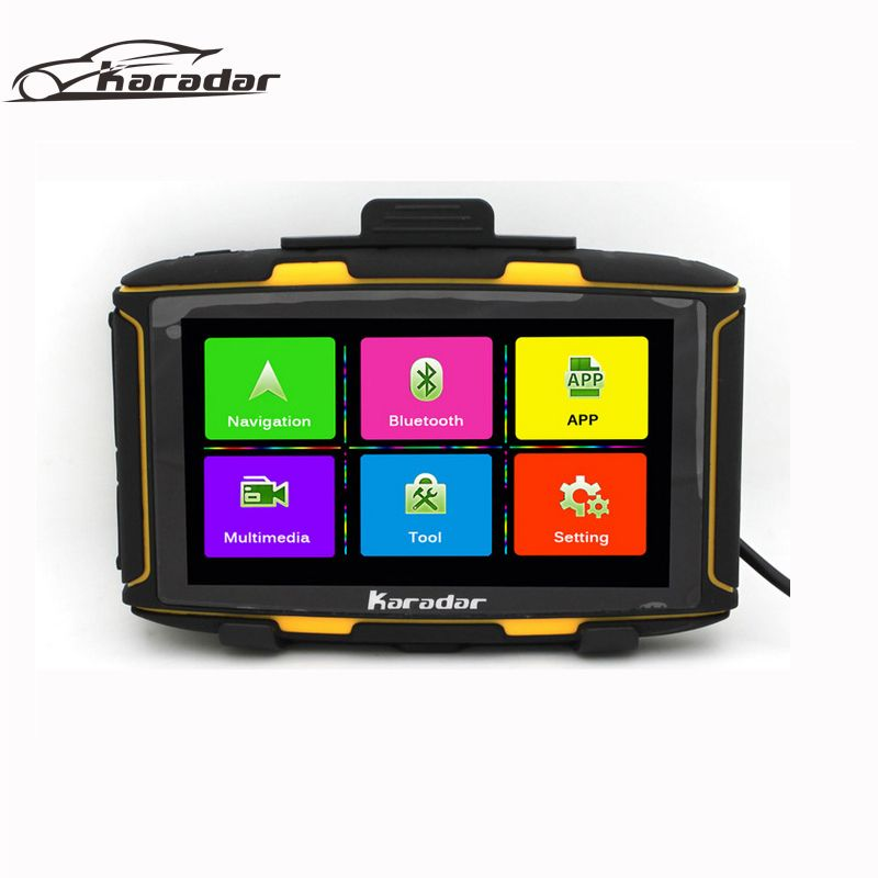 Karadar MT5001 Newest 5 inch Android Motorcycle GPS Navigation MOTO GPS Navigator  Waterproof IPX7 with WiFi,  Bluetooth, FM