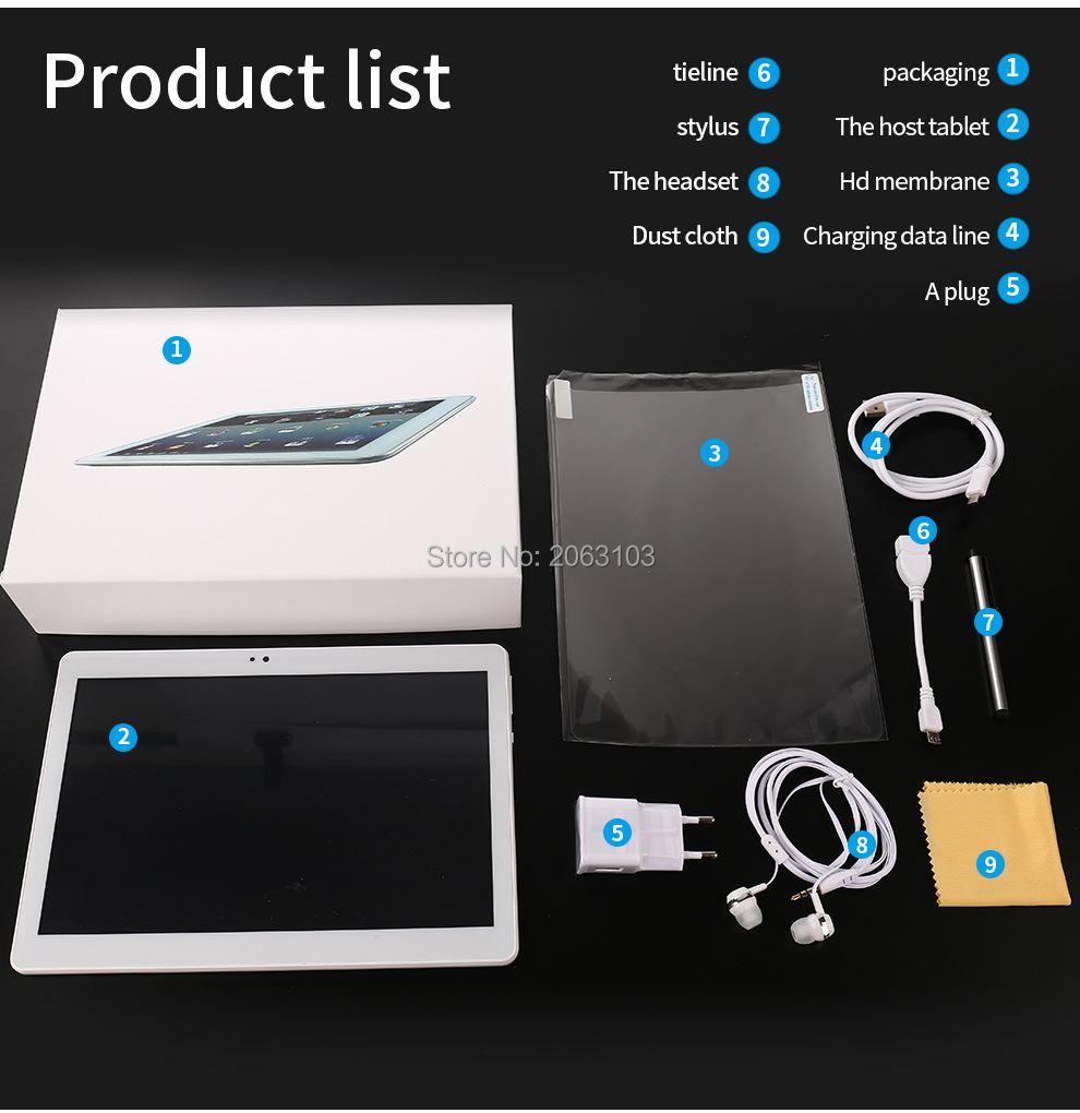 11,11 10 zoll Octa-core 3g/4g Tablet pc 4 gb RAM 64 gb ROM 1920*1200 Dual Kameras Android 7.0 Tabletten 10,1 zoll Freies Verschiffen