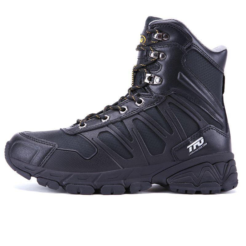 TFO Hombres zapatillas de deporte de escalada de montaña senderismo zapatos hombres botas al aire libre calentamiento a prueba de agua zapatos de senderismo de invierno de cuero