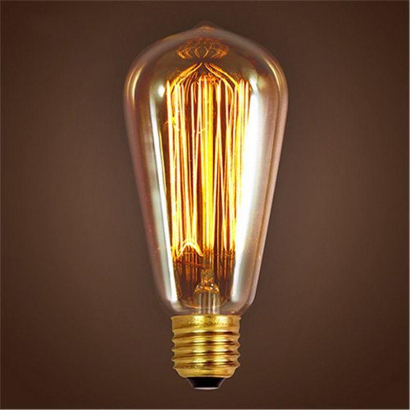Ретро лампа ST64 Винтаж edison лампы E27 Лампа накаливания 110 В 220 В Праздничные огни 40 Вт 60 Вт нити лампа лампада для дома