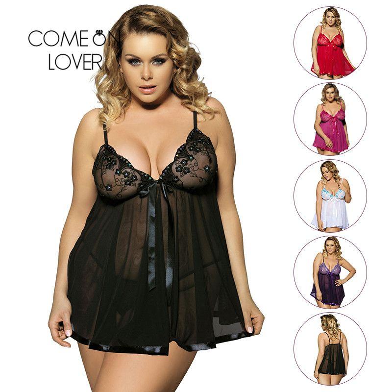 Vêtement Sexy come-over sous-vêtements érotiques femmes bébé poupée Lingerie Sexy chaud Transparent grande taille 6XL dentelle Lingerie vêtements de nuit