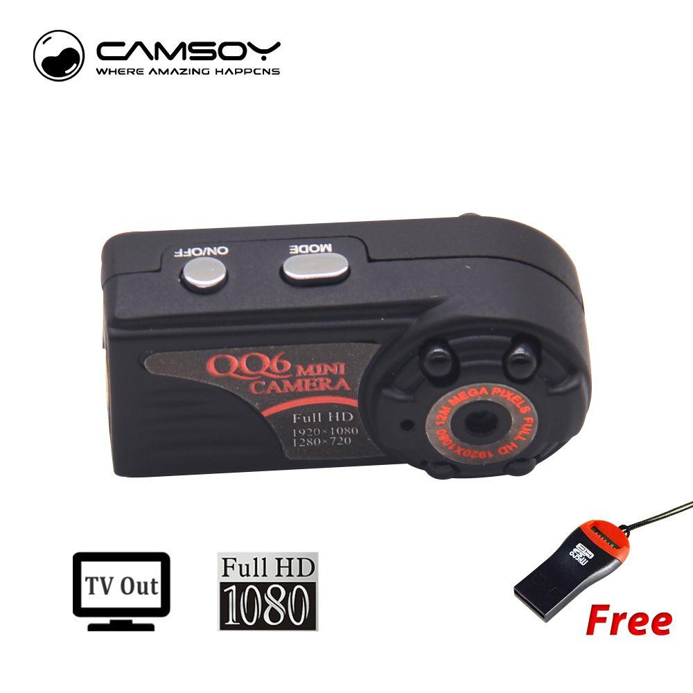 QQ6 Mini Caméra Full HD 1080 p Grand Angle Micro Caméra IR Night Vision Motion Detection Capteur DV DVR Caméra petit Web Caméra
