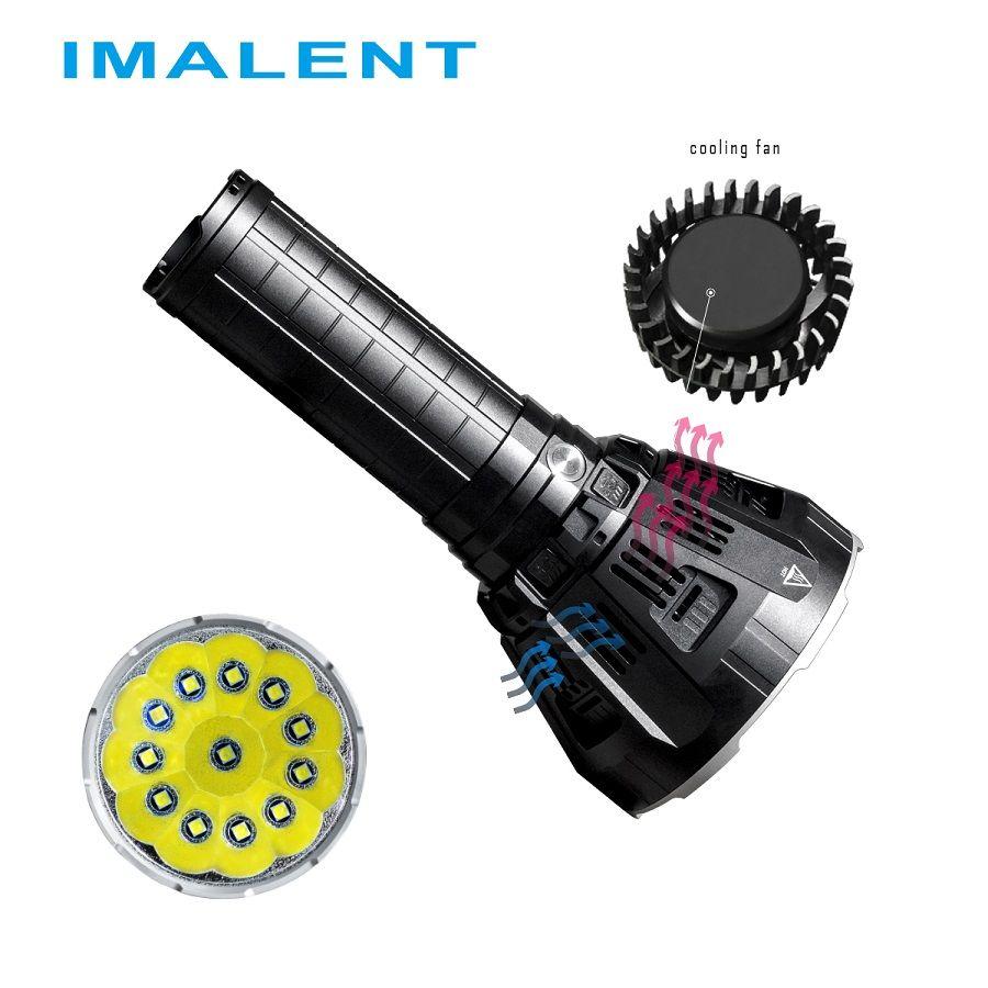 IMALENT MS12 LED Taschenlampe CREE XHP70 53000 Lumen Wasserdicht Flash licht mit Intelligente Lade für Im Freien Such Licht