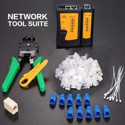 Profesional RJ45 RJ11 RJ12 CAT5 CAT5e portátil LAN Network Tool Kit utp cable tester y Plier Crimp crimper plug CLAMP PC