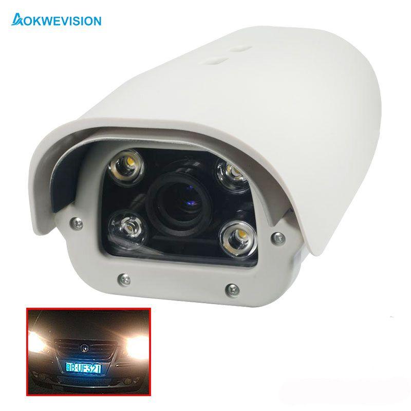 Onvif 1080 P 2MP IR LED reconnaissance de plaque d'immatriculation de véhicule 5-50mm lentille varifocale LPR caméra IP pour autoroute et parking