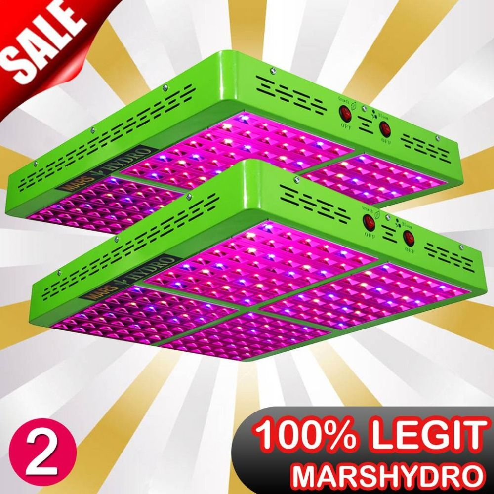 2PCS MarsHydro Reflector 960W LED Grow Lights Full Spectrum Growth Bloom Switches IR for indoor plants grow