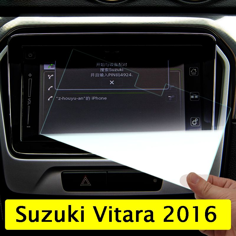 Car GPS Navigation Screen Tempered Steel Protective Film For Suzuki Vitara 4th 2015 2016 2017 2018 Control of LCD Screen Sticker