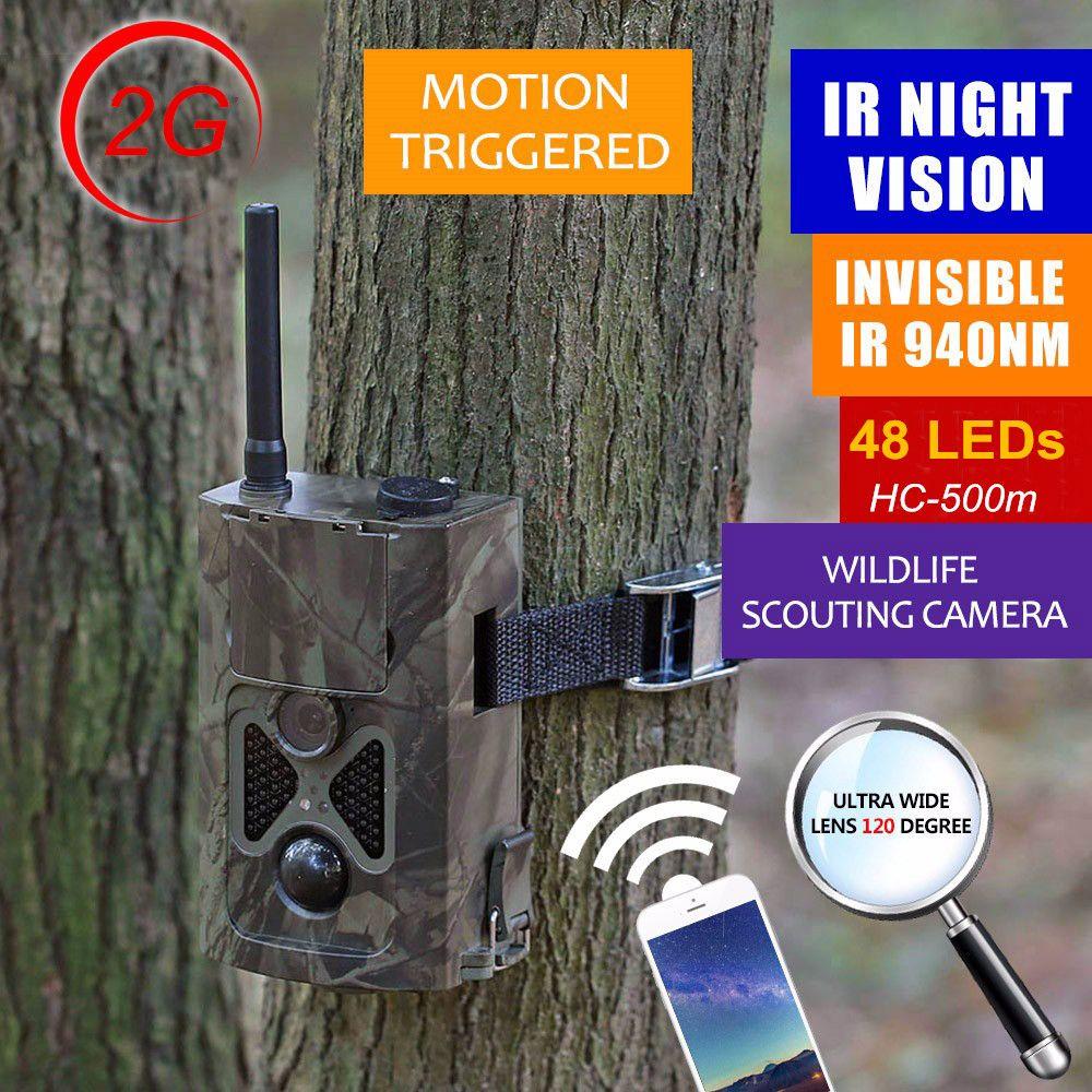 HC-550M HD 16MP 1080 P Wildlife Spiel Kamera Für Jagd 24 leds 2G netzwerk MMS SMTP/SMS Infrarot Trail Kamera Suntek HC550M