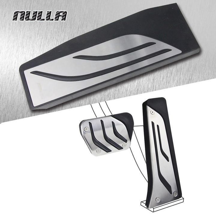 NULLA LHD No Drill Stainless Steel Foot Rest Pedals Gas Fuel Brake Pedal Pads Automatic For BMW F30 F31 335i F20 F21 1 3 series