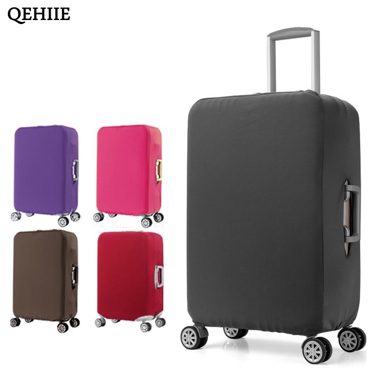 High-Quality Elastic Luggage Cover Solid Color Suitcase Dust Cover Trolley Case Elastic Cover For 18-30 Inch Travel Accessories