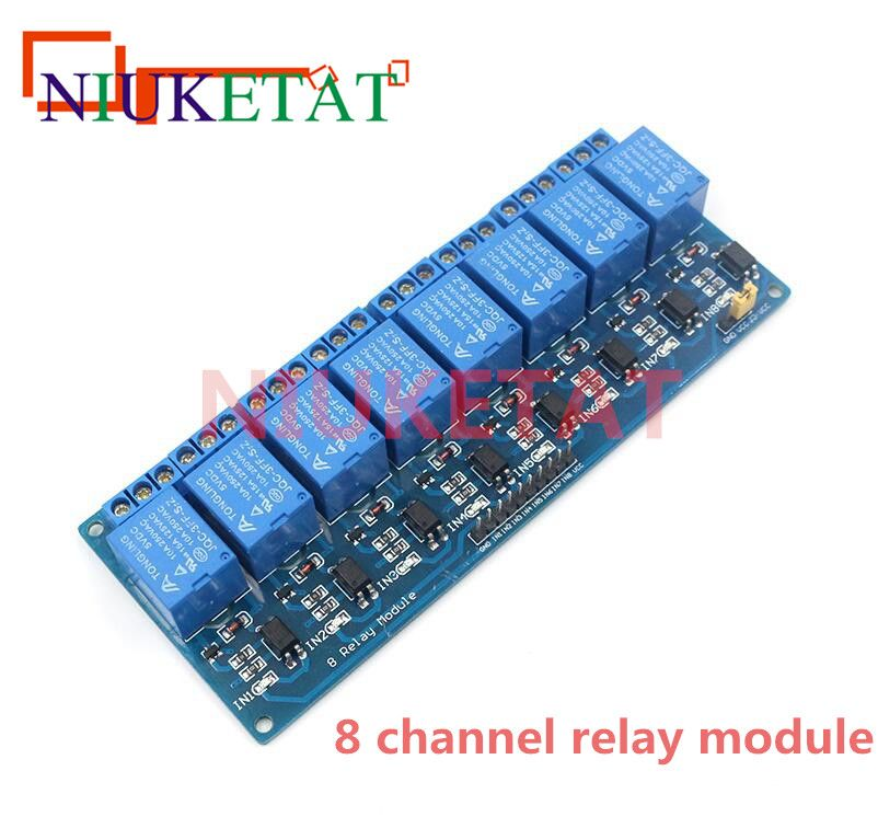 8-Channel Relay DC5V with light coupling protection expansion board have a single way 8 road relay module DC 5v For Arduino