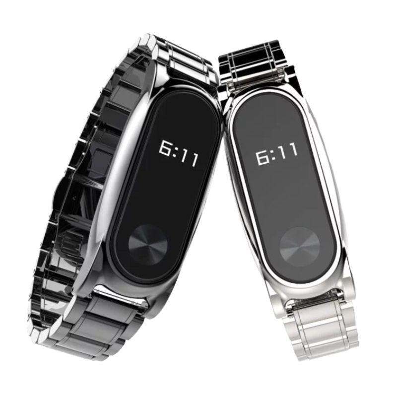 NIYOQUE Bracelet En Métal pour Origine Xiaomi Mi Bande 2 Inoxydable Bracelet en acier pour MiBand 2 Bracelets Accessoires pour Mi Bande 2