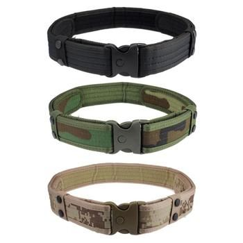 High Quality Men Belts luxury New Woodland Camo Waistband Tactical Hunting Designer Belts Hunting Gun Accessories