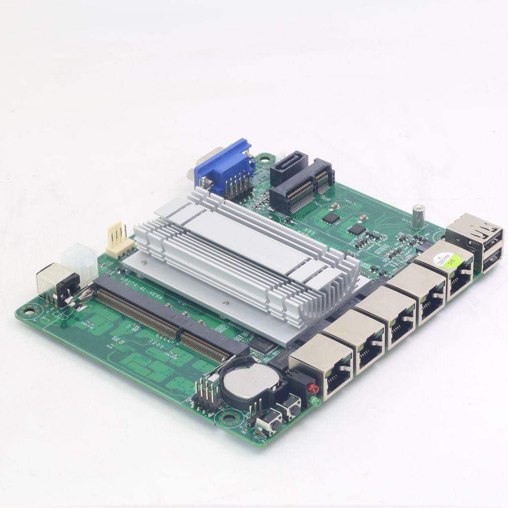 Pfsense Mini ITX Mainboard Intel Celeron J1900 4 LAN Intel Gigabit Ethernet Firewall Soft Router VPN Applicance 12V 5A