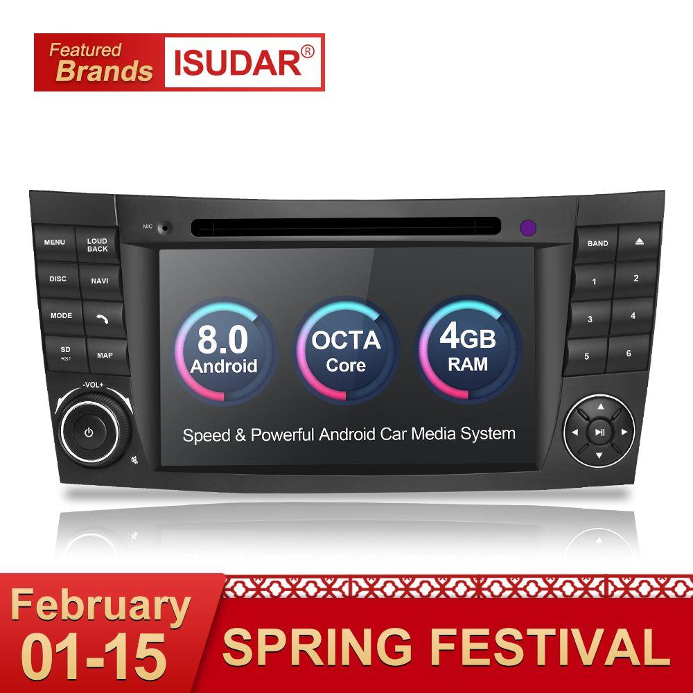 Isudar Auto Multimedia Player Android 8.0 GPS 2 Din 7 Zoll Für E-Klasse/E200/E220/E300 /W211/E320/Mercedes/Benz/CL Wifi Radio DVD