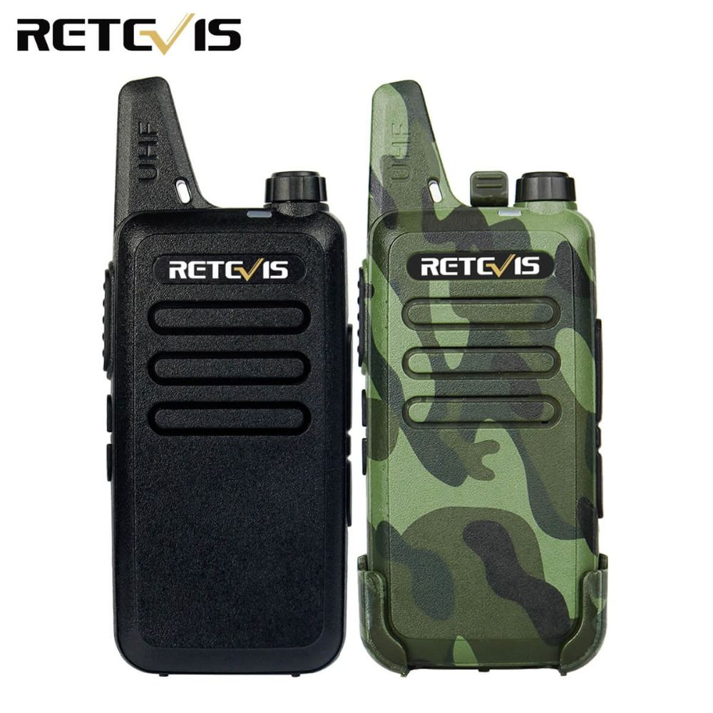 2 pcs Mini Talkie Walkie Retevis RT22 2 W UHF 400-480 MHz 16CH CTCSS/DCS TOT VOX Scan Silencieux Deux Way Radio Communicateur A9121A