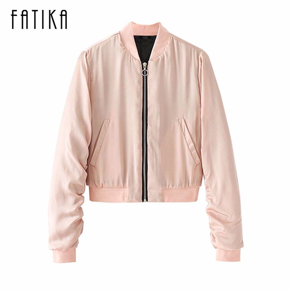 FATIKA 2017 Autumn Winter Fashion Women Jackets and Coats Sailor Collar Zipper Up Flying Motorcycle Jacket Outwear