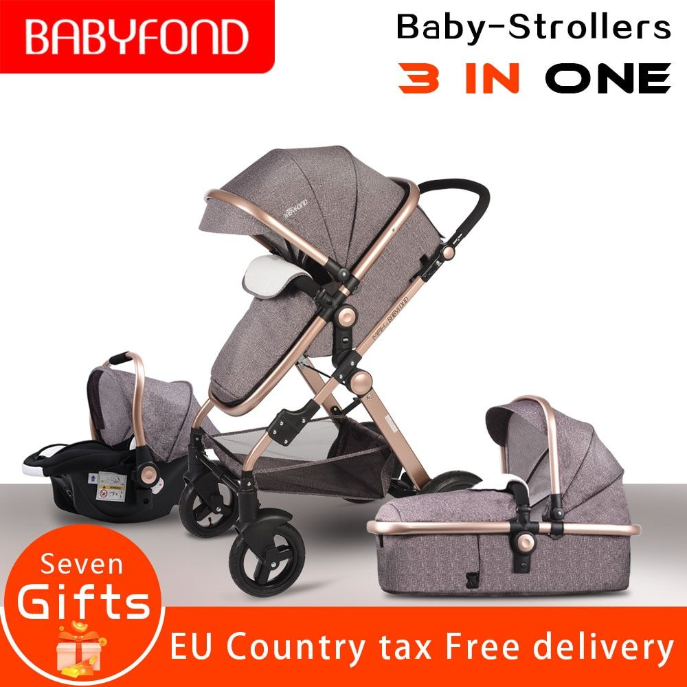 Europe 3 in 1 baby strollers and sleeping basket newborn baby carriage 0~36 months baby pram gold frame Aliexpress Direct