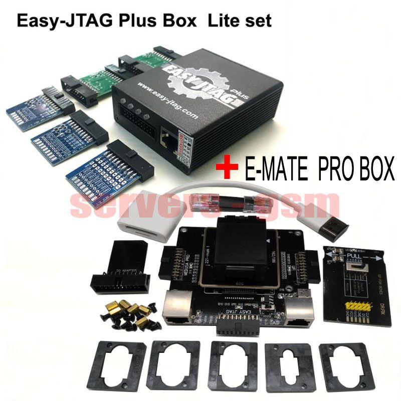 2018 neueste Einfach Jtag plus Box + Neue E-kasten-gehilfenkasten Emate Pro Box E-Buchse EMMC WERKZEUG alle in 1 Freies verschiffen